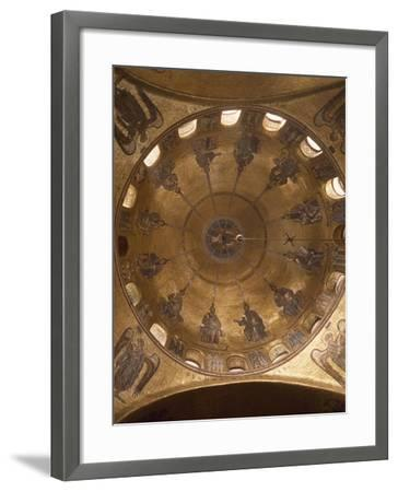 Dome of Pentecost, Mosaic in St. Mark's Basilica, Venice, Italy, 12th Century--Framed Giclee Print
