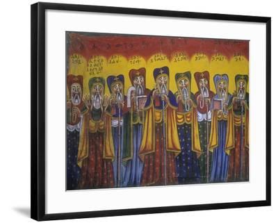 Ethiopia, Tigrai, Aksum, Painting in Monastery of Abba Pantelewon, from 6th Century--Framed Giclee Print