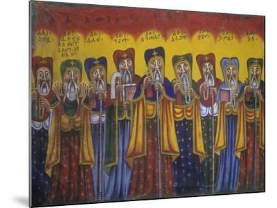 Ethiopia, Tigrai, Aksum, Painting in Monastery of Abba Pantelewon, from 6th Century--Mounted Giclee Print