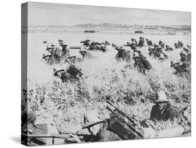 Troops of the Italian Infantry in Ethiopia Between October 1935 and May 1936--Stretched Canvas Print