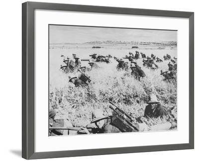 Troops of the Italian Infantry in Ethiopia Between October 1935 and May 1936--Framed Photographic Print