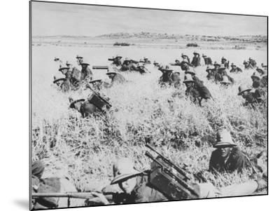 Troops of the Italian Infantry in Ethiopia Between October 1935 and May 1936--Mounted Photographic Print