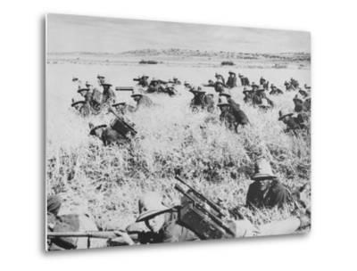 Troops of the Italian Infantry in Ethiopia Between October 1935 and May 1936--Metal Print