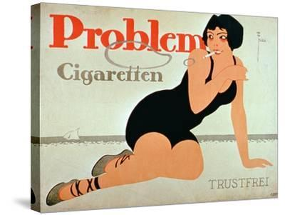 Advertisement for 'Problem Cigarettes'--Stretched Canvas Print