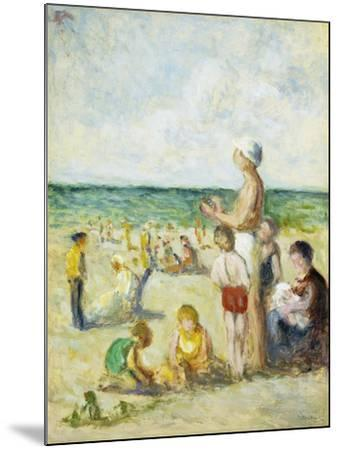 On the Beach in Normandy; Sur La Plage En Normandie, C.1930--Mounted Giclee Print