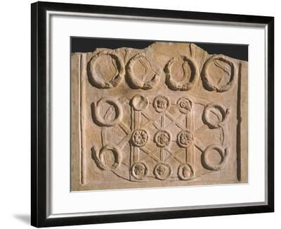 Fragment of Stele with Military Decorations--Framed Giclee Print