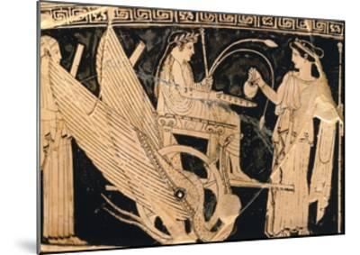 Krater Showing Scene of Eleusis Cult with Triptolemus in Winged Chariot and Demeter--Mounted Giclee Print