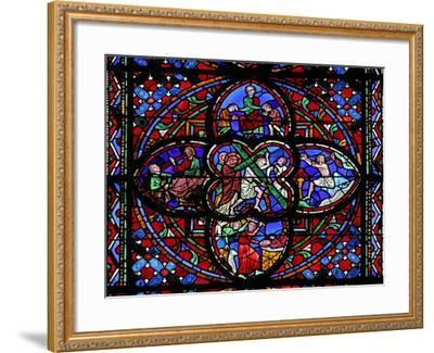 Window Depicting the Second Section of W0: the Way of the Cross--Framed Giclee Print