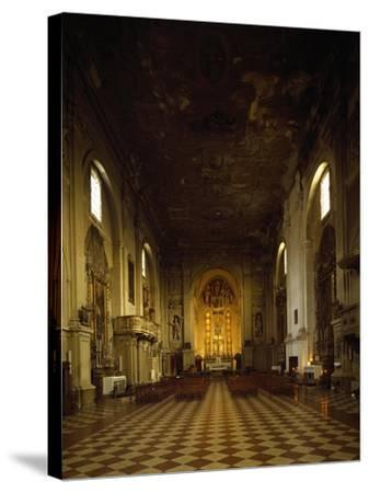 Italy, Emilia-Romagna, Rimini, Interior of Church of Saint Augustine--Stretched Canvas Print