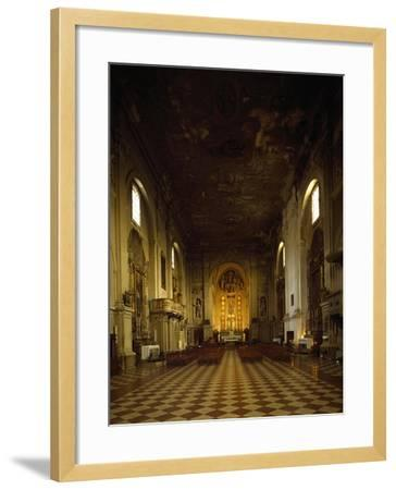 Italy, Emilia-Romagna, Rimini, Interior of Church of Saint Augustine--Framed Giclee Print