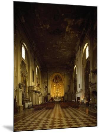 Italy, Emilia-Romagna, Rimini, Interior of Church of Saint Augustine--Mounted Giclee Print