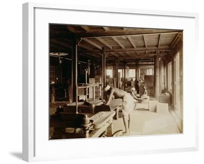 Tea Pickers at the Lipton Factory in Ceylon, C.1900--Framed Photographic Print