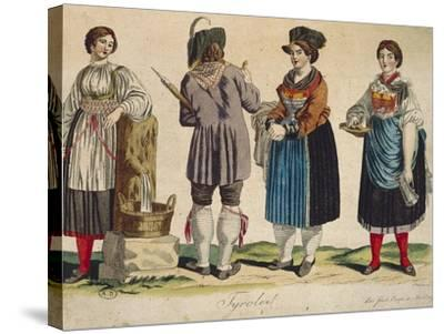 Traditional Tyrolean Costumes--Stretched Canvas Print