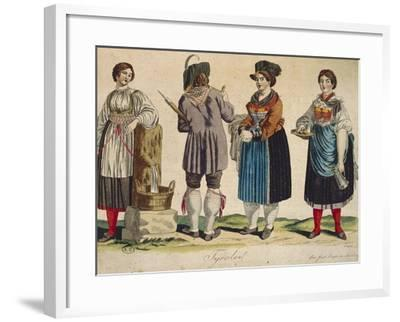 Traditional Tyrolean Costumes--Framed Giclee Print