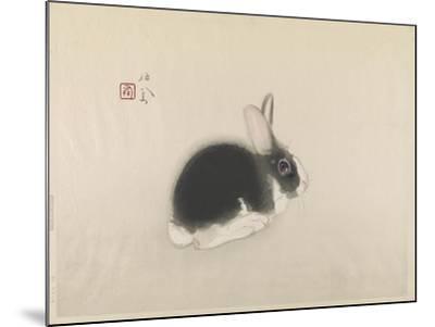 Rabbit--Mounted Giclee Print