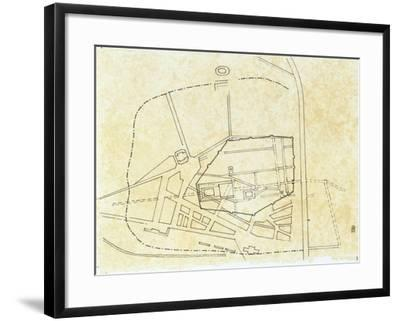 Plan of Narbo Martius in the Roman Province of Gallia Transalpina--Framed Giclee Print