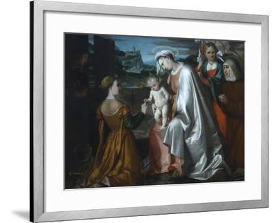 Mystic Marriage of Saint Catherine in the Presence of Saints Ursula--Framed Giclee Print