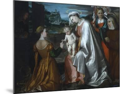 Mystic Marriage of Saint Catherine in the Presence of Saints Ursula--Mounted Giclee Print