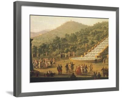 Detail of the Fountain of the Royal Palace of Caserta, Italy--Framed Giclee Print