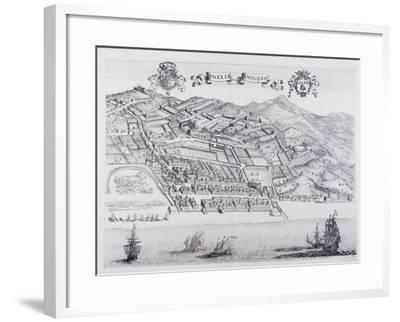 View of Oneglia, by Theatrum Regiae Celsitudinis Sabaudiae, 1682ed in Amsterdam--Framed Giclee Print