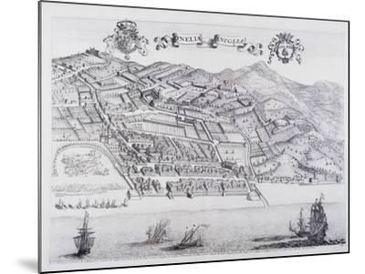 View of Oneglia, by Theatrum Regiae Celsitudinis Sabaudiae, 1682ed in Amsterdam--Mounted Giclee Print