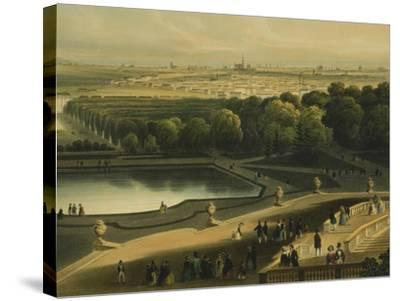 View of Schoenbrunn Palace in Vienna, Austria--Stretched Canvas Print