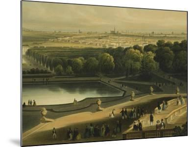 View of Schoenbrunn Palace in Vienna, Austria--Mounted Giclee Print