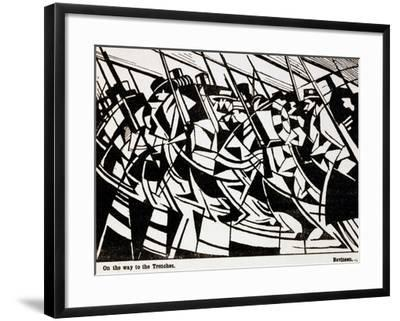 On the Way to the Trenches, Illustration from 'Blast' Magazine, June 1914--Framed Giclee Print