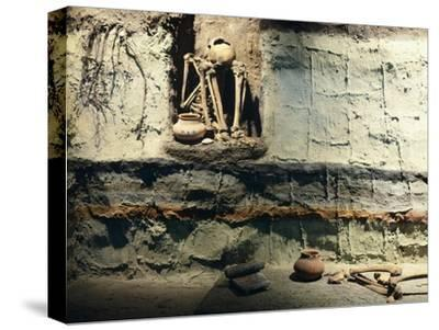 Reconstruction of a Typical Mexican Burial Pit--Stretched Canvas Print