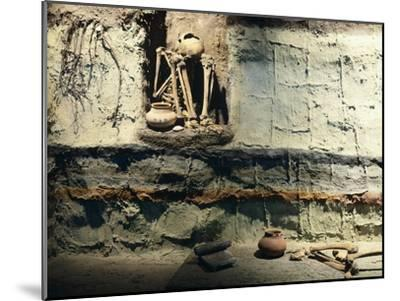 Reconstruction of a Typical Mexican Burial Pit--Mounted Giclee Print