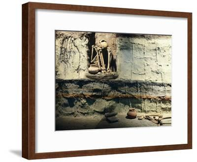 Reconstruction of a Typical Mexican Burial Pit--Framed Giclee Print