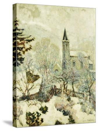 Murol Church in Winter; L'Eglise De Murol En Hiver, 1928--Stretched Canvas Print