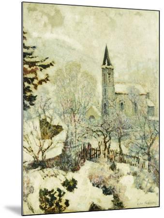 Murol Church in Winter; L'Eglise De Murol En Hiver, 1928--Mounted Giclee Print