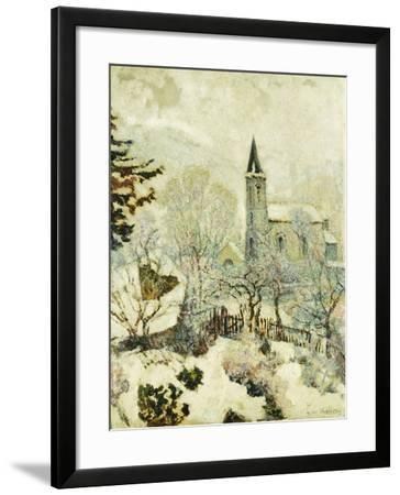 Murol Church in Winter; L'Eglise De Murol En Hiver, 1928--Framed Giclee Print