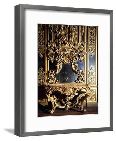 Detail from Piece of Furniture in Gallery of Portraits in Carignano Palace, Turin, Italy--Framed Giclee Print