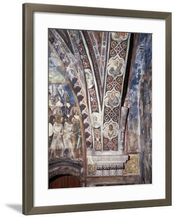 Frescoes on Lower Part of Arch in Upper Church of Sacro Speco Monastery, Subiaco, Italy--Framed Giclee Print