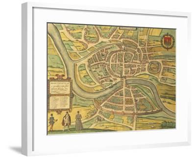 Map of Bristol from Civitates Orbis Terrarum--Framed Giclee Print