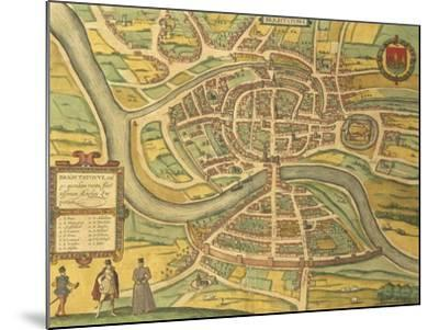 Map of Bristol from Civitates Orbis Terrarum--Mounted Giclee Print