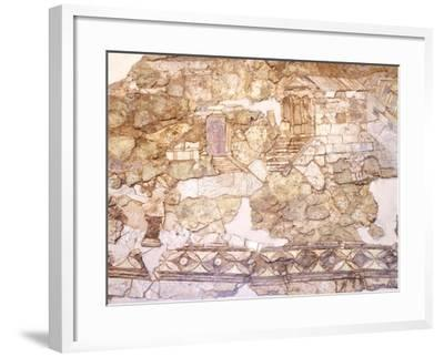 View of the Port Buildings, Opus Sectile and Vitreous Paste--Framed Giclee Print