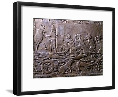 King Ummanigash the Elamite King Being Saluted on Arriving in Madaktu--Framed Giclee Print