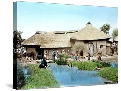 View of a Japanese Farm, C.1900--Stretched Canvas Print
