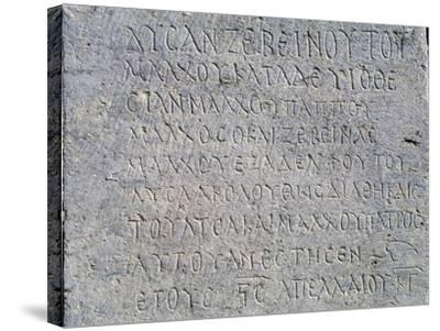 Greek Inscription, Jerash, Jordan BC--Stretched Canvas Print