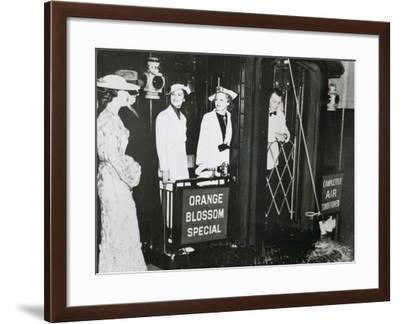 The 'Orange Blossom Special' of the Seabord Air Line Prepares to Leave Pennsylvania Station--Framed Photographic Print