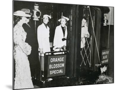 The 'Orange Blossom Special' of the Seabord Air Line Prepares to Leave Pennsylvania Station--Mounted Photographic Print