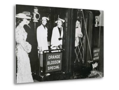 The 'Orange Blossom Special' of the Seabord Air Line Prepares to Leave Pennsylvania Station--Metal Print