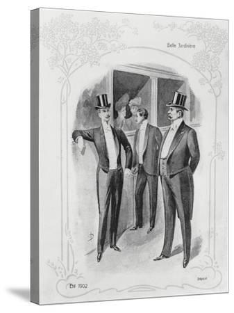 Men's Evening Suits--Stretched Canvas Print