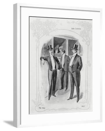 Men's Evening Suits--Framed Giclee Print