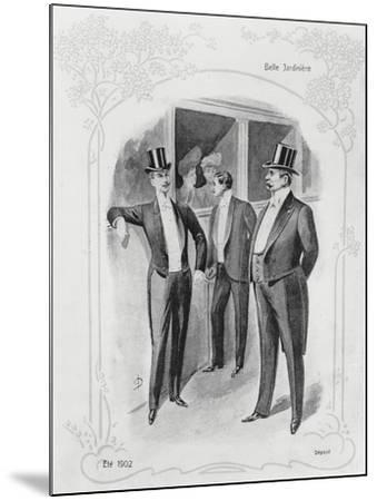 Men's Evening Suits--Mounted Giclee Print