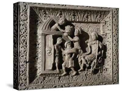Relief Depicting Stories of Joseph--Stretched Canvas Print