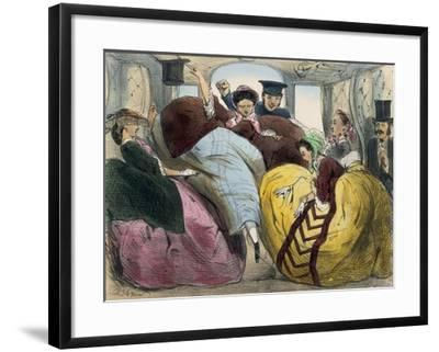 Caricature of First Class Train Car--Framed Giclee Print